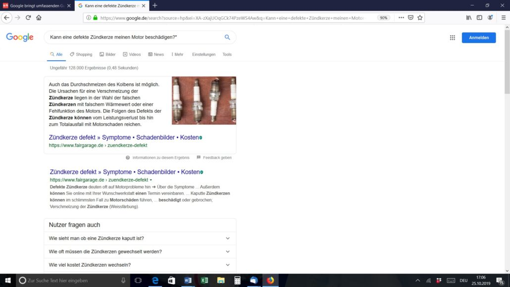 Zero Ranking bei Google